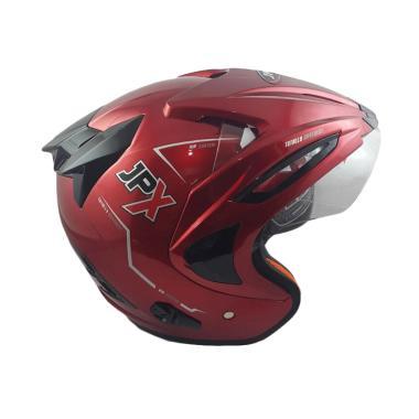 JPX Supreme Solid Helm Half Face - Red Scarlet