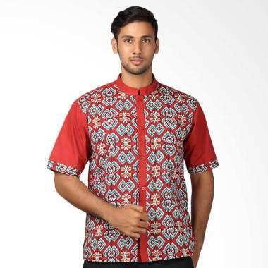 Aitana BTK-KS-154073-SS Baju Koko Batik Pria - Merah