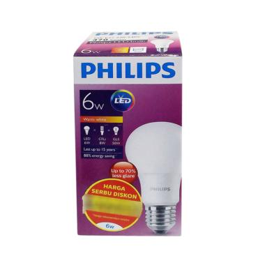 PHILIPS Bohlam Lampu LED- Warm White [6 W]
