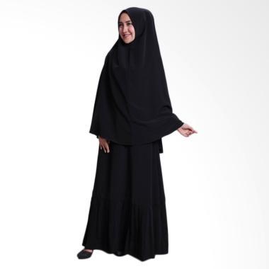 Amella Hijab Malika Syar'I Set Gamis - Black