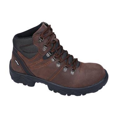 Catenzo LI 066 Safety Sepatu Boots Pria - Brown