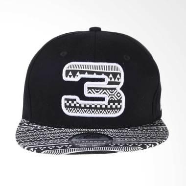 3Second Ethnic Printed Hat - Black 103031718