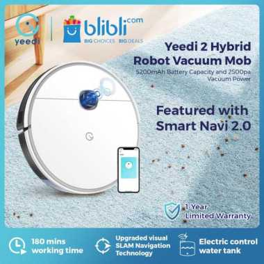 Yeedi 2 Hybrid Robot Vacuum Cleaner Mop Putih