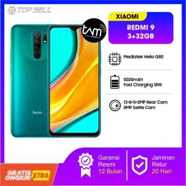 harga Xiaomi Redmi 9 (3GB+32GB) 13MP Quad Kamera Helio G80 Layar 6.53 FHD+ Baterai 5020mAh Green Blibli.com