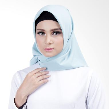 Cantik Kerudung Lizzie Plain Square Shawl - Salted Egg