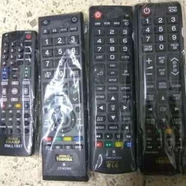 harga REMOTE TV LED LCD LAYAR DATAR FLAT REMOT SAMSUNG TOSHIBA LG SHARP multicolor Blibli.com