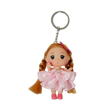 QCF Barbie Gantungan Kunci / Gantun ... iah / Boneka Kecil - Pink
