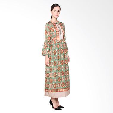 Batik Adikusuma 382125047 RN Tenun Ikat Woman Gamis Batik - Orange
