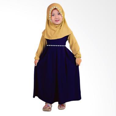 Bajuyuli Gamis Anak Perempuan - Navy Cream