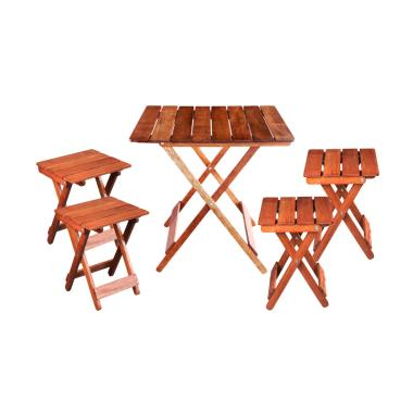 Oscar Furniture Dining Set Meja Mak ... rsi Makan Tivoli] - Cocoa
