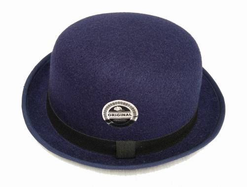 D&D Hat Collection Topi Fedora Chaplin Topi Bowler Dewasa - Navy