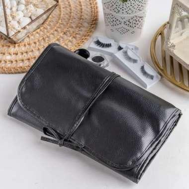 harga ARAMI Black Make Up Face Brush Portable Leather Pouch   Paket Kuas 33s Blibli.com