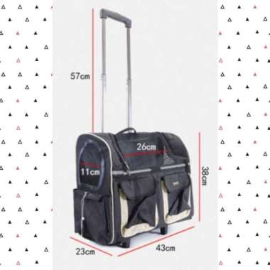 harga PE118 Pet Dog Cat Luggage Backpack Tas Koper Stroller Anjing Kucing Hitam Blibli.com