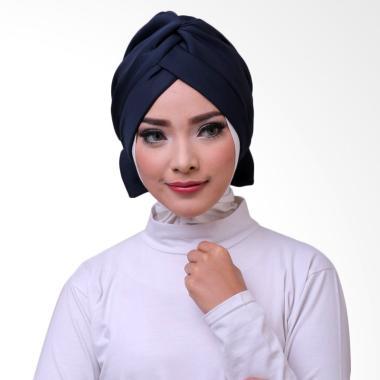 ATTIQAHIJAB Bowtie Turban Instant - Navy