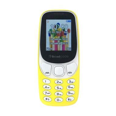Brandcode B3310 Handphone - Kuning [Dual Sim GSM]