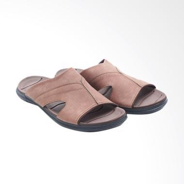 Dr.Kevin Men Leather Sandals Pria - Brown 17209