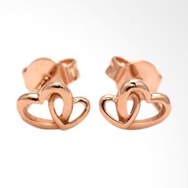 Tiaria Love D1 Rose Gold Earring Anting Emas Perhiasan Anting Emas