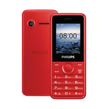 Philips E103 Handphone - Red