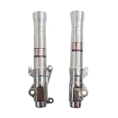 Goyo Bottom CNC Variasi Tabung Shock Depan for Scoopy FI ESP - Silver