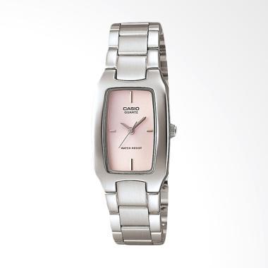 CASIO LTP-1165A-4CDF Enticer Jam Tangan Wanita - Pink Silver Silver Pink