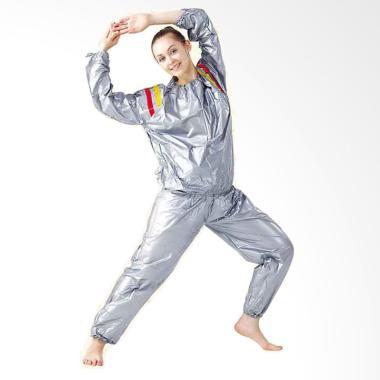 Unistar Sauna Suit Unisex Jaket Baju - Silver