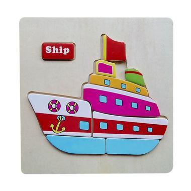 MOMO Transport Kendaraan Ship Mainan Puzzle