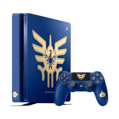 SONY PlayStation 4 Slim Dragon Ques ... ame Console - Biru [1 TB]
