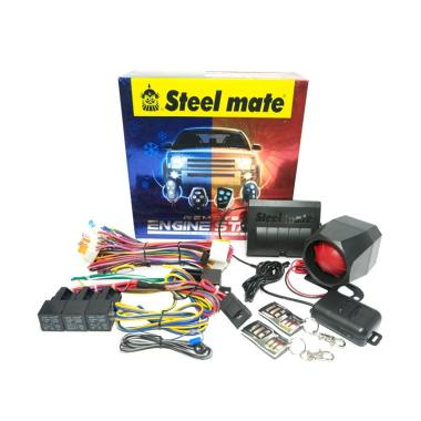 Steelmate 858 Set Alarm Mobil with Tombol Engine Start