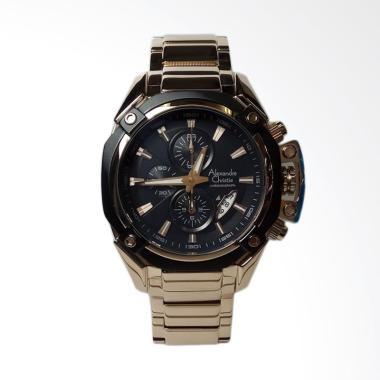 Alexandre Christie Chronograph Stai ... ria - Light Gold AC6225MC