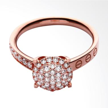 Lino P1706160006 Cincin Berlian Rose Gold [18K VVS]