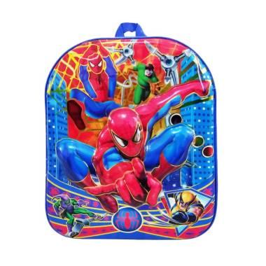 harga AHA 3D Motif Spiderman Tas Ransel Anak - Blue [Ukuran 33] Blibli.com
