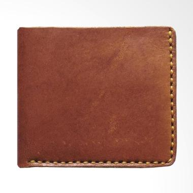 Brain Clothing Heat Leather Wallet Dompet Pria - Dark Brown