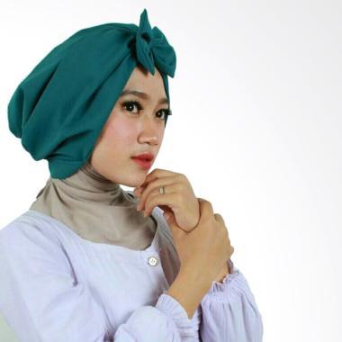Hijab Bandung Kerudung Bow Turban - Toska