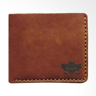 Brain Clothing Fold Leather Wallet Dompet Pria - Dark Brown