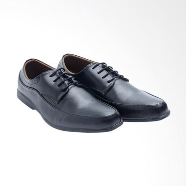 Dr.Kevin Men Leather Shoes Sepatu Pria - Black [13300]