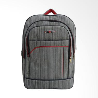 POLO Cordura Tas Ransel Laptop Kerja Sekolah - Grey