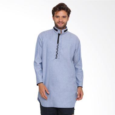 Zayidan Baju Muslim Gamis Yazid Pria - Biru
