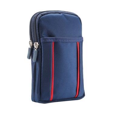 Wakaka Sport Double Bag for Smartphone up to 6.3 Inch - Biru
