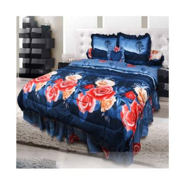 California Zetta Set Sprei dan Bed Cover - Blue