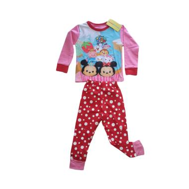 Junior Wardrobe Disney Tsumtsum Set Piyama Anak Perempuan - Red Pink