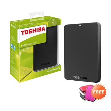 Toshiba Canvio Basic Hard Disk Ekst ... am [1 TB] + Free Softcase