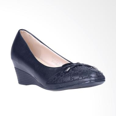 Inside Jody Wedges Sepatu Wanita - Black