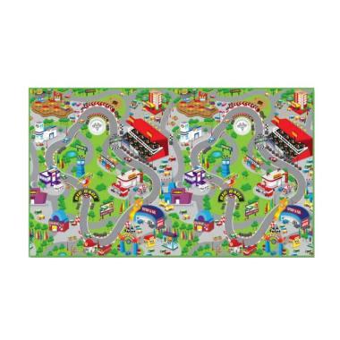 Evamats Track Race Karpet - Hijau [120 x 200 cm]