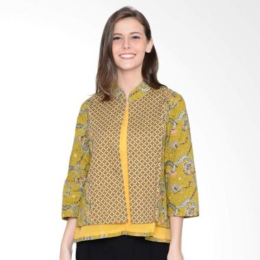 A&D Fashion MS 1015 Ladies Blazer Batik - Yellow