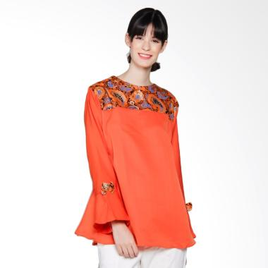 harga Jogja Batik Risdini Baloteli Blus Batik Wanita - Orange Blibli.com