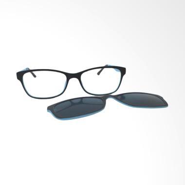 OEM Clip on Frame Kacamata Minus - Blue Black [-2.00]