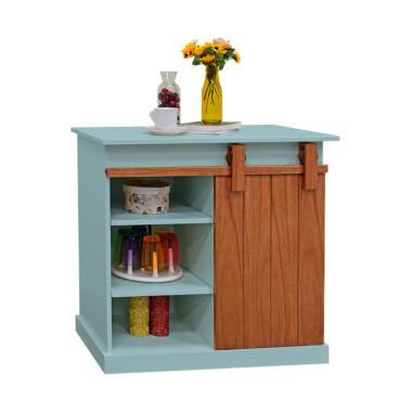 Livien Furniture Celine Slide Cabinet Lemari Dapur - Sky Blue