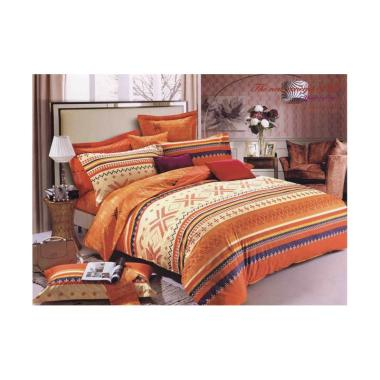 Roemah Linen Nina MG Sheets Orange List Set Sprei