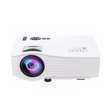 Unic UC36 Mini LED Projector with Wifi - White [Full HD/ 1000 Lumens]