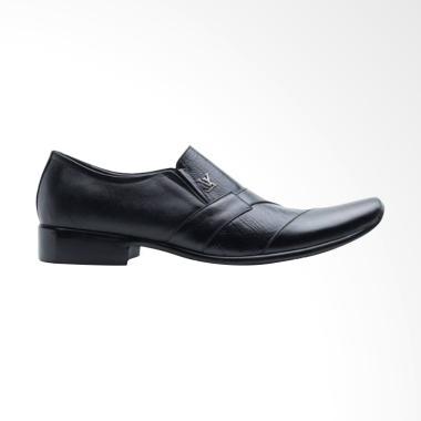 Handmade Kulit Sapi Premium Pantofel Sepatu Pria - Hitam [902]